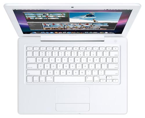 "Apple MacBook Early 2008 MB403 (Core 2 Duo T8300 2400 Mhz/13.3""/1280x800/2048Mb/160.0Gb/DVD-RW/Wi-Fi/Bluetooth/MacOS X)"