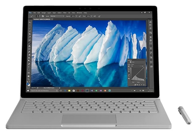 "Microsoft Ноутбук Microsoft Surface Book with Performance Base (Intel Core i7 6600U 2600 MHz/13.5""/3000x2000/16Gb/1024Gb SSD/DVD нет/NVIDIA GeForce GTX 965M/Wi-Fi/Bluetooth/Win 10 Pro)"