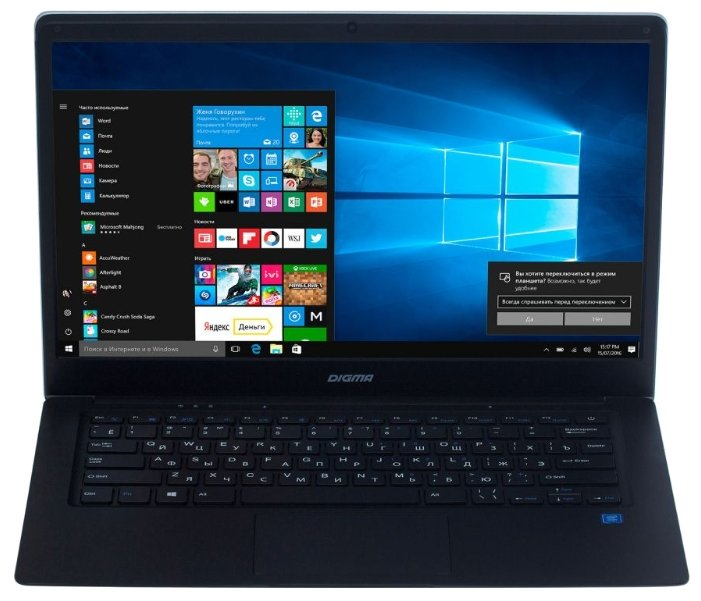 "Digma Ноутбук Digma EVE 1402 (Intel Atom x5 Z8350 1440 MHz/14.1""/1366x768/4Gb/32Gb SSD/DVD нет/Intel HD Graphics 400/Wi-Fi/Bluetooth/Windows 10 Home)"