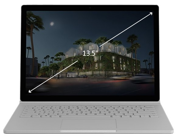 "Microsoft Ноутбук Microsoft Surface Book 2 13.5 (Intel Core i5 7300U 2600 MHz/13.5""/3000x2000/8Gb/128Gb SSD/DVD нет/Intel HD Graphics 620/Wi-Fi/Bluetooth/Windows 10 Pro)"