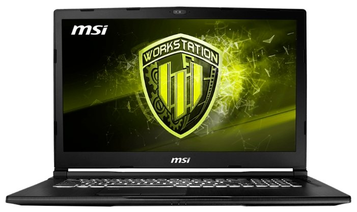 "MSI Ноутбук MSI WE73 8SJ (Intel Core i7 8750H 2200 MHz/17.3""/1920x1080/32GB/1256GB HDD+SSD/DVD нет/NVIDIA Quadro P2000/Wi-Fi/Bluetooth/Windows 10 Pro)"