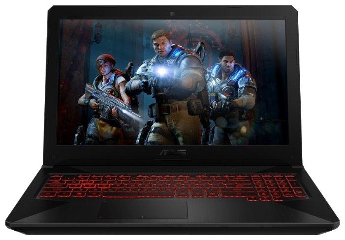 "ASUS Ноутбук ASUS TUF Gaming FX504GD (Intel Core i7 8750H 2200 MHz/15.6""/1920x1080/8GB/1128GB HDD+SSD/DVD нет/NVIDIA GeForce GTX 1050/Wi-Fi/Bluetooth/Windows 10 Home)"