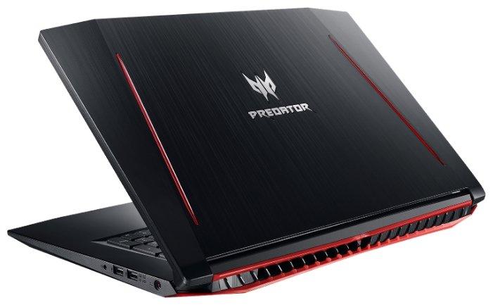 "Acer Ноутбук Acer Predator Helios 300 (PH317-51-74JQ) (Intel Core i7 7700HQ 2800 MHz/17.3""/1920x1080/8Gb/1128Gb HDD+SSD/DVD нет/NVIDIA GeForce GTX 1050 Ti/Wi-Fi/Bluetooth/Windows 10 Home)"