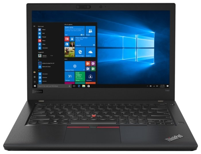 "Lenovo Ноутбук Lenovo ThinkPad T480 (Intel Core i7 8550U 1800 MHz/14""/1920x1080/8Gb/1016Gb HDD+SSD Cache/DVD нет/NVIDIA GeForce MX150/Wi-Fi/Bluetooth/Windows 10 Pro)"