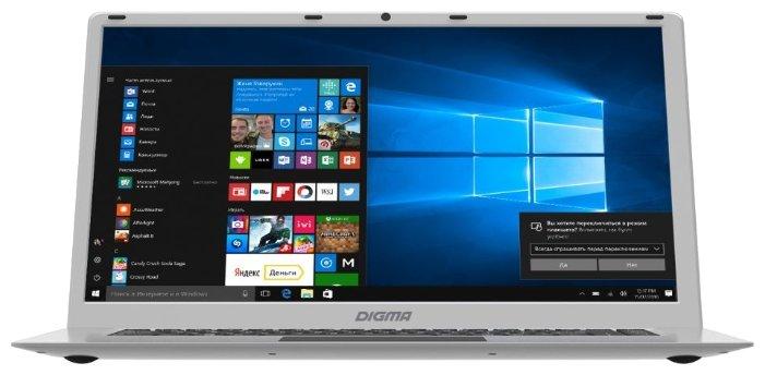 "Digma Ноутбук Digma EVE 604 (Intel Atom x5 Z8350 1440 MHz/15.6""/1920x1080/2Gb/32Gb SSD/DVD нет/Intel HD Graphics 400/Wi-Fi/Bluetooth/Windows 10 Home)"