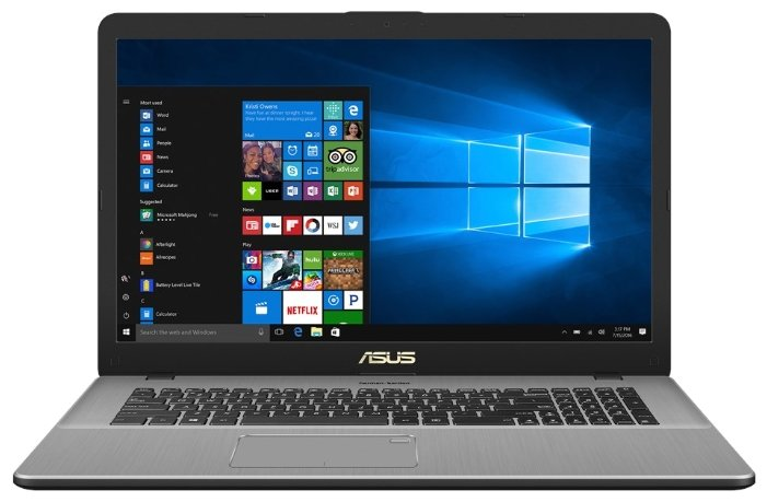 "ASUS Ноутбук ASUS VivoBook Pro 17 N705UD (Intel Core i5 8250U 1600 MHz/17.3""/1920x1080/8Gb/2128Gb HDD+SSD/DVD нет/NVIDIA GeForce GTX 1050/Wi-Fi/Bluetooth/Windows 10 Home)"