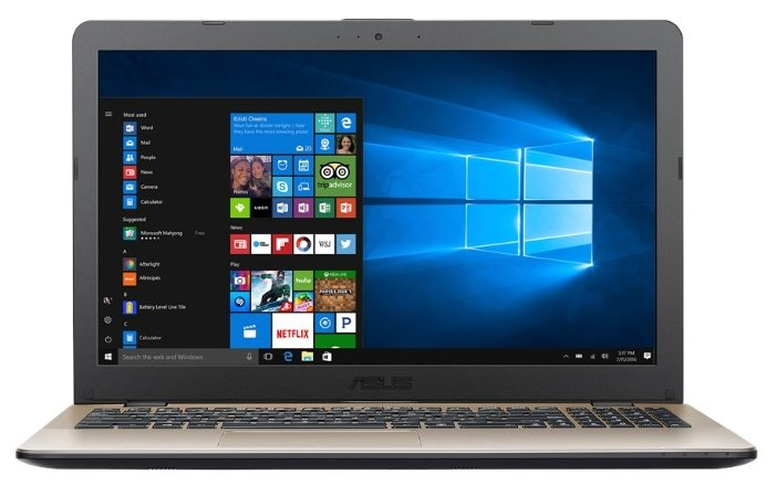 "ASUS Ноутбук ASUS VivoBook 15 X542UR (Intel Core i5 7200U 2500 MHz/15.6""/1366x768/4Gb/500Gb HDD/DVD нет/NVIDIA GeForce 930MX/Wi-Fi/Bluetooth/Windows 10 Pro)"