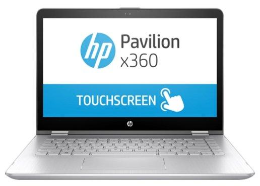 "HP Ноутбук HP PAVILION 14-ba105ur x360 (Intel Core i7 8550U 1800 MHz/14""/1920x1080/8Gb/1128Gb HDD+SSD/DVD нет/NVIDIA GeForce 940MX/Wi-Fi/Bluetooth/Windows 10 Home)"
