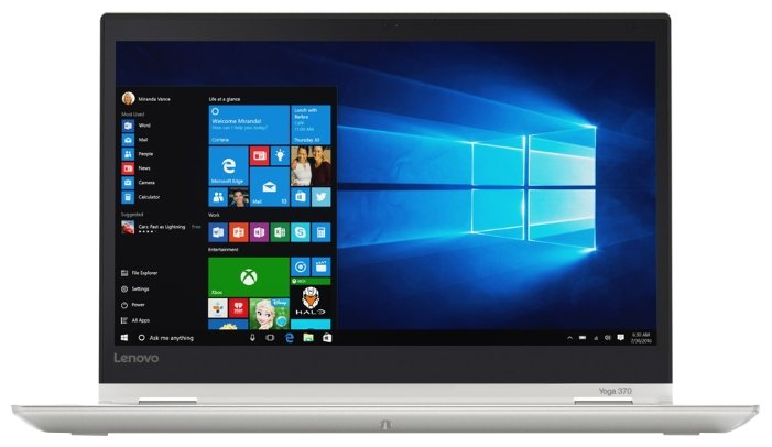 "Lenovo Ноутбук Lenovo ThinkPad Yoga 370 (Intel Core i5 7200U 2500 MHz/13.3""/1920x1080/8Gb/512Gb SSD/DVD нет/Intel HD Graphics 620/Wi-Fi/Bluetooth/Windows 10 Pro)"