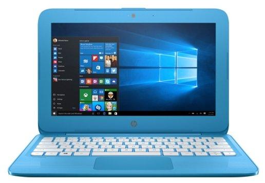"""HP Ноутбук HP Stream 11-y011ur (Intel Celeron N3060 1600 MHz/11.6""""/1366x768/4Gb/32Gb eMMC/DVD нет/Intel HD Graphics 400/Wi-Fi/Bluetooth/Windows 10 Home)"""