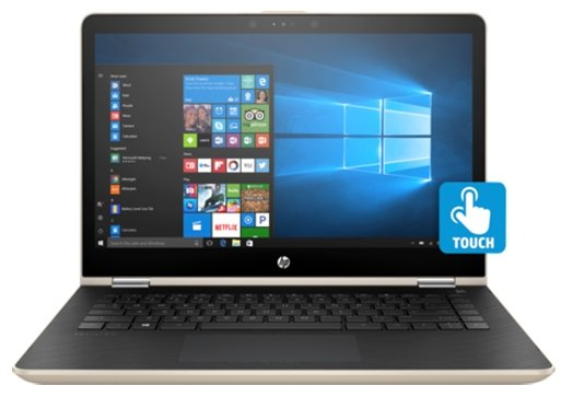"HP Ноутбук HP PAVILION 14-ba017ur x360 (Intel Core i3 7100U 2400 MHz/14""/1920x1080/6Gb/508Gb HDD+SSD Cache/DVD нет/NVIDIA GeForce 940MX/Wi-Fi/Bluetooth/Windows 10 Home)"