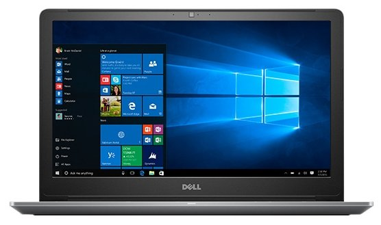 "DELL Ноутбук DELL Vostro 5568 (Intel Core i5 7200U 2500 MHz/15.6""/1920x1080/8GB/256GB SSD/DVD нет/Intel HD Graphics 620/Wi-Fi/Bluetooth/Windows 10 Home)"