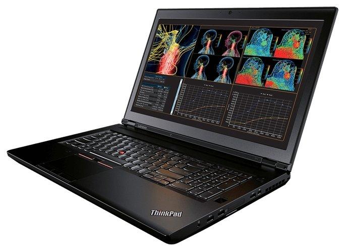 "Lenovo Ноутбук Lenovo ThinkPad P71 (Intel Core i7 7700HQ 2800 MHz/17.3""/1920x1080/8Gb/256Gb SSD/DVD-RW/NVIDIA GeForce GT 620M/Wi-Fi/Bluetooth/Windows 10 Pro)"