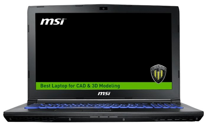 "MSI Ноутбук MSI WE62 7RJ (Intel Core i7 7700HQ 2800 MHz/15.6""/1920x1080/32Gb/1256Gb HDD+SSD/DVD-RW/NVIDIA Quadro M2200/Wi-Fi/Bluetooth/Windows 10 Pro)"