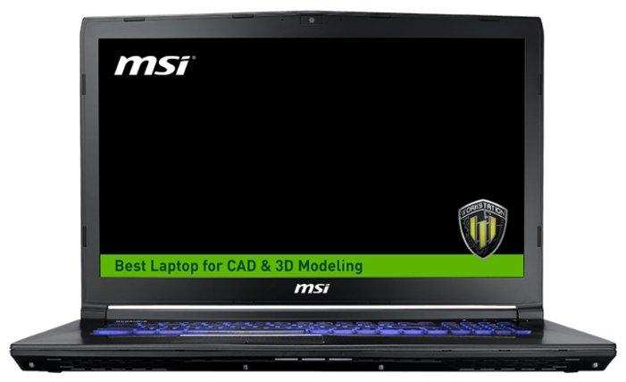 """MSI Ноутбук MSI WE72 7RJ (Intel Core i7 7700HQ 2800 MHz/17.3""""/1920x1080/16Gb/1128Gb HDD+SSD/DVD-RW/NVIDIA Quadro M2200/Wi-Fi/Bluetooth/Windows 10 Pro)"""