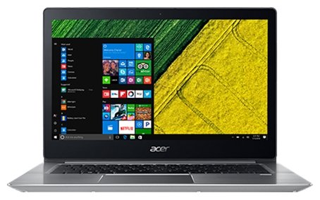 "Acer Ноутбук Acer SWIFT 3 (SF314-52G-844Y) (Intel Core i7 8550U 1800 MHz/14""/1920x1080/8Gb/512Gb SSD/DVD нет/NVIDIA GeForce MX150/Wi-Fi/Bluetooth/Linux)"