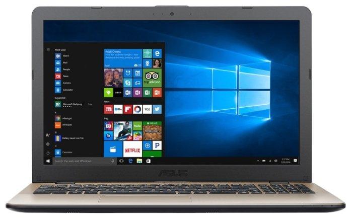 "ASUS Ноутбук ASUS VivoBook 15 X542UA (Intel Core i3 7100U 2400 MHz/15.6""/1366x768/4Gb/500Gb HDD/DVD-RW/Intel HD Graphics 620/Wi-Fi/Bluetooth/Windows 10 Home)"