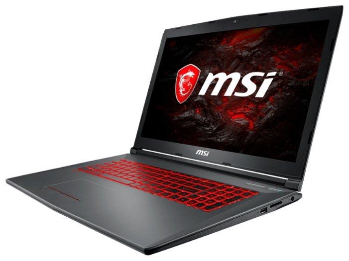"MSI Ноутбук MSI GV72 7RE (Intel Core i7 7700HQ 2800 MHz/17.3""/1920x1080/8Gb/1128Gb HDD+SSD/DVD нет/NVIDIA GeForce GTX 1050 Ti/Wi-Fi/Bluetooth/Windows 10 Home)"