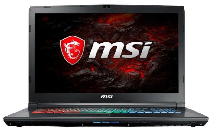 """MSI Ноутбук MSI GP72 7RDX Leopard (Intel Core i7 7700HQ 2800 MHz/17.3""""/1920x1080/8Gb/1128Gb HDD+SSD/DVD-RW/NVIDIA GeForce GTX 1050/Wi-Fi/Bluetooth/Win 10 Home)"""