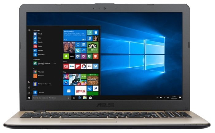"ASUS Ноутбук ASUS VivoBook 15 X542UA (Intel Pentium 4405U 2100 MHz/15.6""/1366x768/4GB/1000GB HDD/DVD-RW/Intel HD Graphics 510/Wi-Fi/Bluetooth/Windows 10 Home)"