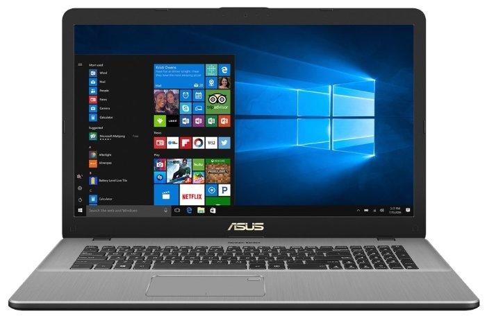 "ASUS Ноутбук ASUS VivoBook Pro 17 N705UN (Intel Core i7 7500U 2700 MHz/17.3""/1920x1080/8GB/1128GB HDD+SSD/DVD нет/NVIDIA GeForce MX150/Wi-Fi/Bluetooth/Windows 10 Home)"