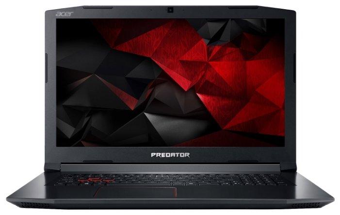 "Acer Ноутбук Acer Predator Helios 300 (PH317-52-779K) (Intel Core i7 8750H 2200 MHz/17.3""/1920x1080/8GB/1000GB HDD/DVD нет/NVIDIA GeForce GTX 1050 Ti/Wi-Fi/Bluetooth/Windows 10 Home)"