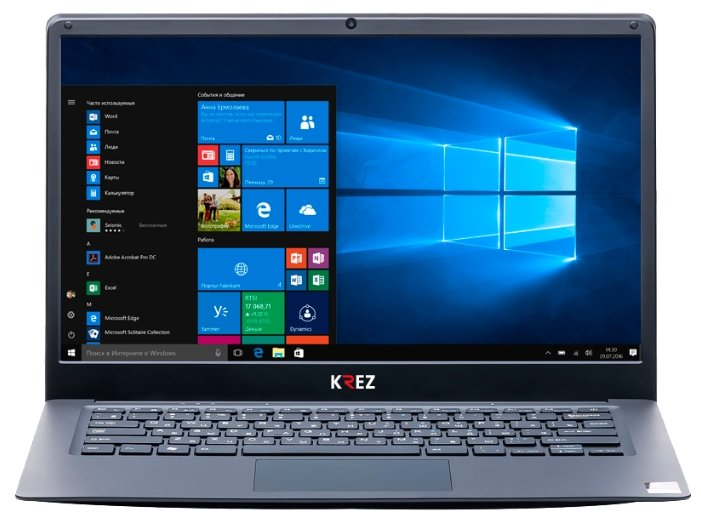"KREZ Ноутбук KREZ N1403S Travel (Intel Celeron N3350 1100 MHz/14.1""/1920x1080/4GB/32GB SSD/DVD нет/Intel HD Graphics 500/Wi-Fi/Bluetooth/Windows 10 Home)"
