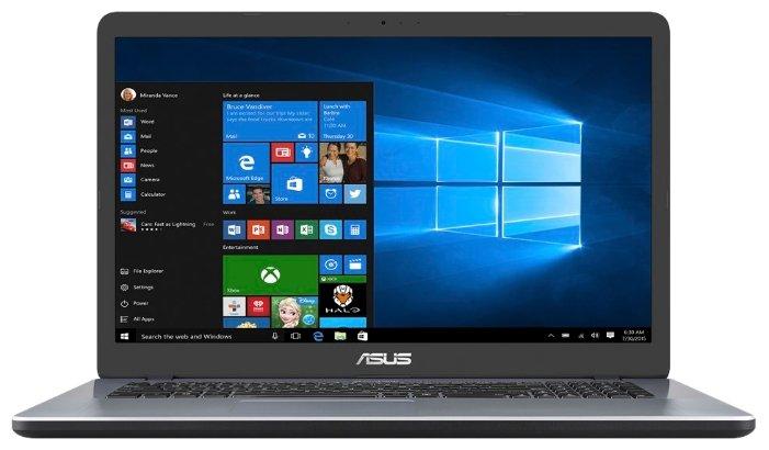 "ASUS Ноутбук ASUS VivoBook 17 X705UF (Intel Core i3 7100U 2400 MHz/17.3""/1920x1080/4GB/1000GB HDD/DVD нет/NVIDIA GeForce MX130/Wi-Fi/Bluetooth/Windows 10 Home)"