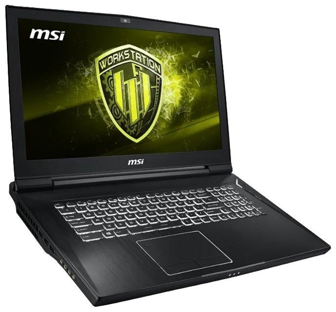 """MSI Ноутбук MSI WT75 8SL (Intel Core i7 8700 3200 MHz/17.3""""/1920x1080/32GB/1256GB HDD+SSD/DVD нет/NVIDIA Quadro P4200/Wi-Fi/Bluetooth/Windows 10 Pro)"""